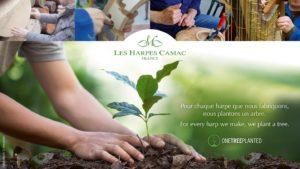 Pour chaque harpe que nous fabriquons, nous plantons un arbre